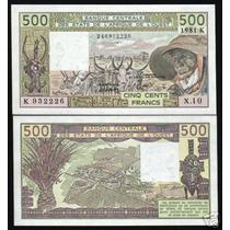 West African States Senegal P-706k Fe 500 Francs 1984 * Q J