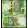 South Africa África Do Sul P-new Fe 10 Rand 2012 Mandela
