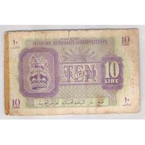 Líbia Ocupação Britânica Segunda Guerra 10 Lire 1943 Militar