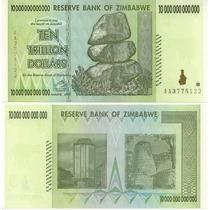 Zimbabwe Zimbabue P-88 Fe 10.000.000.000.000 Dollars 2009
