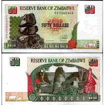 Zimbabwe Zimbabue P-8 Fe 50 Dollars 1994 * Q J *