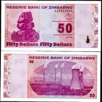 Zimbabwe Zimbabue P-96 Fe 50 Dollars 2009 * Q J *
