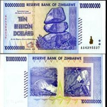 Zimbábue 10 Bilhões Dollars 2008 P. 85 Fe Cédula - Tchequito