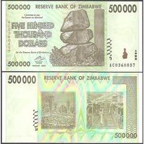 Zimbabwe Zimbábue 500.000 Dollars Fe 2008 P-76
