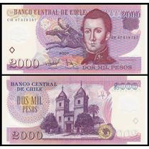 Chile P-160 Fe 2.000 Pesos 2007 Polímero * Q J *