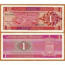 Antilhas Holandesas 1 Gulden 1970 P.20 Fe Cédula - Tchequito