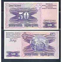 Bósnia Herzegovina 50 Dinara 1995 P. 47 Fe Cédula- Tchequito