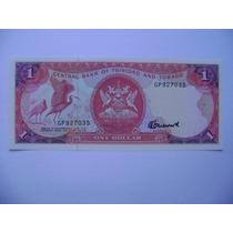 Rb929 - Cédula Trinidad & Tobago 1 Dollar Fe Flor