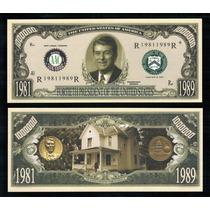 Usa Md-185 Fe 1 Milhão De Dólares Ronald Reagan * Q J *