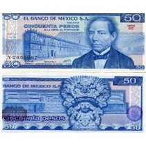 México 50 Pesos 1979 P. 67b Fe Cédula - Tchequito