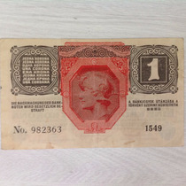 L-713 1 Belíssima Cédula Alemanha 1 Coroa (krone) 1918