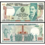 Uruguay Uruguai P-66 Fe 200 Nuevos Pesos 1986 * Q J *