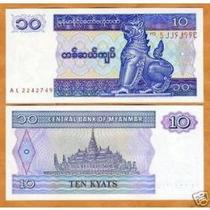 Myanmar 10 Kyats 1997 P. 71b Fe Cédula - Tchequito
