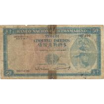 50 Escudos - Timor - Colônia Portuguesa