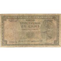 20 Escudos - Timor - Colônia Portuguesa