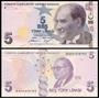 Turkey Turquia P-new Fe 5 New Lira 2009 2013 Nova * Q J *