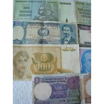 Cédulas Estrangeiras 8 Cédulas Diferent Zimbabue 10 Trilhões