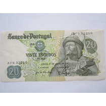 Portugal Cédula 20 Escudos 1971 Mbc