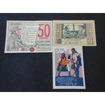 2092 - Lote 03 Raros Notgelds Da Alemanha Sob/fe 1921/1922