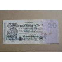 Alemanha. Cédula De 20 Milhões De Marcos De 1923.