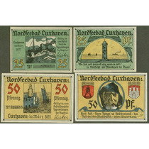Germany Alemanha Cuxhaven L-241 S/fe 2 Notgelds 1921* Q J*