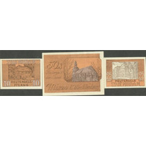 Germany Alemanha Mirow L-865 S/fe 3 Notgelds 1922 * Q J *