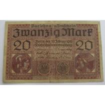 Alemanha - Bela Cédula De 20 Mark 1918 - Escassa !!!