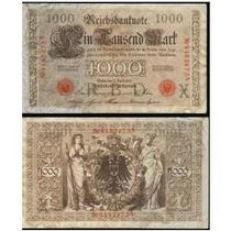 Alemanha Cédula De 1000 Marcos Reichsbanknote Ano De 1910