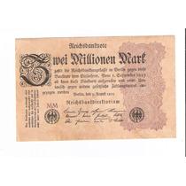 Linda Cédula Da Alemanha - 2 Milhões De Marcos De 1923 !!!
