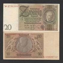 Alemanha 20 R. Marcos 1929 P. 181a S/fe Cédula - Tchequito
