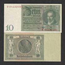 Alemanha 10 R. Marcos 1929 P. 180b Fe Cédula - Tchequito