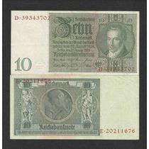 Alemanha 10 R. Marcos 1929 P. 180a S/fe Cédula - Tchequito