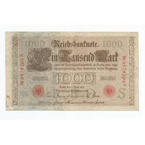 Alemanha 1000 Marcos 1910 P. 44b Mbc Cédula - Tchequito