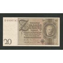 Alemanha 20 R. Marcos 1929 P. 181b S/fe Cédula - Tchequito