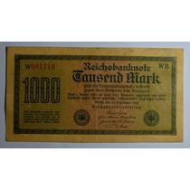 Nota Antiga Alemanha Época Da Inflação Mil Marcos 1922 Sob