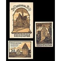Germany Alemanha Neukloster L-924 S/fe 3 Notgelds 1922 * Q J