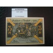 (ext.105) Alemanha - Notgeld - 75 Pfenning - 1921 - Fe