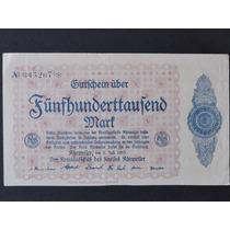 Alemanha Notgeld Ahrweiller 500 Mil Mark 1923 Sob