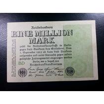 Cédula Inflacionária Da Alemanha, 1 Milhão De Marcos, 1923