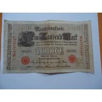 Cedula 1000 Mil Marco - Alemanhã- 1910 - Colecionar- Mbc