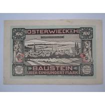 Alemanha Osterwieck Notgeld 100 Mark 1922 Couro