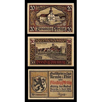 Germany Alemanha Remda L-1084 S/fe 3 Notgelds 1921 * Q J *