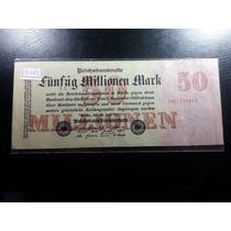 Cédula Inflacionária Da Alemanha, 50 Milhões De Marcos, 1923