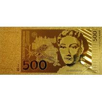 Cédula Alusiva Da Alemanha - 500 Marcos - Folheada Ouro 24k