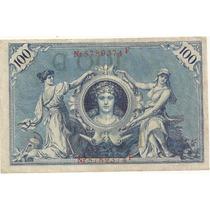 100 Marcos - Alemanha - Circulada - 1908