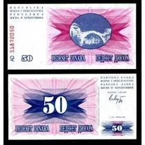 Bósnia Herzegovina 50 Dinara 1992 P. 12 Fe Cédula- Tchequito