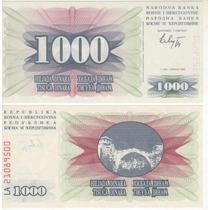 Cédula Da Bosnia De 1000 Dinara - Fe