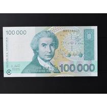 Croacia 100 Mil Dinara 1993 Fe