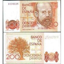 Espanha 200 Pesetas 1980 P. 156 Fe Cédula - Tchequito