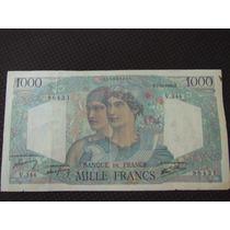 1730 - Antiga Cédula França 1000 Francs Mbc+ 1946